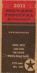 2011 Beltane After Party Ticket